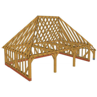 The Wykey – 3 Bay – Log Store